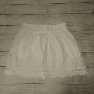 Candies White Skirt with Lace Detailing